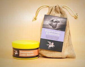 B&E Lederpflege-Set Bienenwachs-Leder-Balsam 500 ml + Glycerin Sattelseife