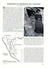 Kayaking in the Amazon in Pery German 1938 report 8 pages 11 images