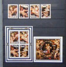 More details for aitutaki 1987 christmas set & miniature sheet x 2 mnh