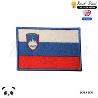 SLOVENIA National Flag Embroidered Iron On Sew On Patch Badge For Clothes etc