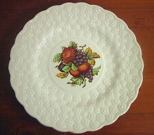 Copeland Spode Luncheon Plate Ring 9¼ Fruit Bouquet Embossed Daisies England #8