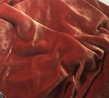 "Silk VELVET Fabric ROSE GOLD by the yard 45"""