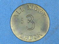 Red Door Saloon Screw Check Tucson Arizona $3 All Night Check Token