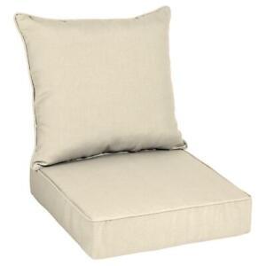 24 x 24 Sunbrella Canvas Flax Deep Seating Outdoor Lounge Chair Cushion