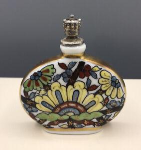 Porzellan Flakon Parfum Antik Ur Alt Handgemalt Korken Rarität Selten