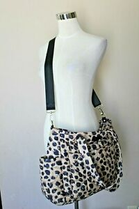 TwelveLittle Diaper Bag Leopard Print Shoulder Strap Great Condition Quilted