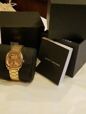 Marc-Jacobs Mandy Rose Gold-Tone Three-Hand Watch NWT $250