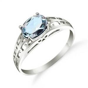 Aquamarine Ring In 14K White Gold (1.15 ct. tw