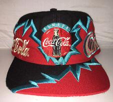 Vtg Coca Cola Snapback hat cap rare 90s Grafitti soda pop coke swag og big logo