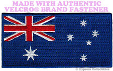 AUSTRALIA NATIONAL FLAG PATCH EMBROIDERED DOWN UNDER w/ VELCRO® Brand Fastener