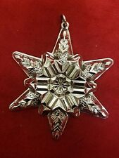 1970  Sterling Silver Snowflake Ornament by Gorham