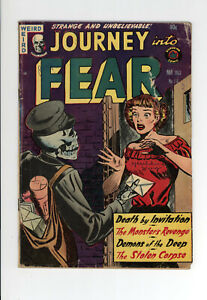 JOURNEY INTO FEAR #16 - HORRIFIC COVER And STORIES - 1953
