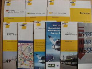 10 Belgian Bus & Tram Timetables Maps Leaflets 2008 - 2010 De Lijn Set 3