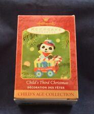 NEW 2001 Hallmark Ornament CHILD'S THIRD CHRISTMAS Child's Age Collection Panda