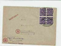 germany  1946 bahnpost railway stamps  cover ref r14225