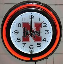 Nebraska Cornhuskers Neon Wall Clock New Huskers Lifestyle Lighting Red