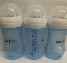 New listing Philips Avent Natural Baby Bottles Blue 9oz 3 Pack- Used