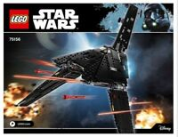 INSTRUCTIONS ONLY for LEGO Star Wars KRENNIC'S IMPERIAL SHUTTLE # 75156 MANUAL