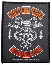 Avenged Sevenfold Hail To The King 2014 - WOVEN  PATCH - free shipping