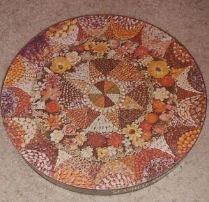 "Vintage Springbok Seashell Mosaic 500+ Piece 21"" Round Jigsaw Puzzle 1973"