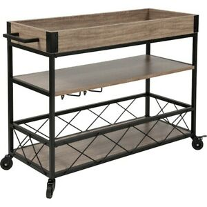 Flash Furniture Buckhead Distressed Kitchen Serving & Bar Cart - NAN-JH-17105-GG