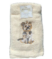 Avanti 2 pack hand towels cream with embroidered Yorkshire  gift dog lover