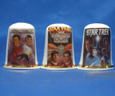 Birchcroft Thimbles -- Set of Three  --  Star Trek Movie Posters