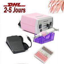Ponceuse Electrique Ongles Manucure Pédicure PROF Nail Art Drill Rose + 6 Bits