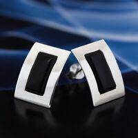 Onyx Silber 925 Ohrringe Damen Schmuck Sterlingsilber S537