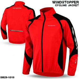 Cycling Jacket Windstopper Winter Thermal Fleece Windproof Long Sleeve Bike Coat