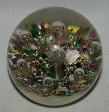 Art Glass Controlled Bubble Paperweight                                        D