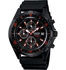 Casio AMW370B-1A1 Men's Black IP Marine Gear Chronograph Sports Diver Watch