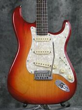 2006 Fender American Deluxe Ash Stratocaster Aged Cherryburst Guitar Case Strat