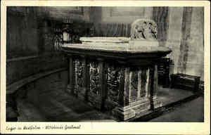 Enger Nordrhein Westfalen  alte Ansichtskarte 1953 gelaufen Grabmal Wittekinds
