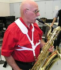 White Bari Saxophone harness neoprene shoulder pad Tenor Alto super Sax