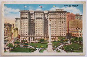 Vintage San Francisco California St. Francis Hotel Postcard Union Square SF View