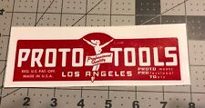 "Proto Tools Los Angeles decal for restoration of vintage tool box  6 1/4"" Long"