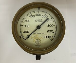 Antique U.S.L.H.S. Tamarack US Lighthouse Society Air Pressure Gauge ~ RARE!