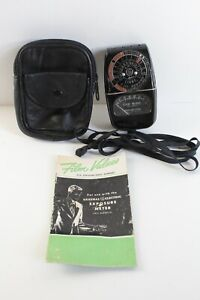 Vintage GE General Electric Type DW-58 Light Exposure Meter With Case + Manual