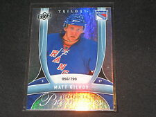 MATT GILROY RANGERS STAR GENUINE AUTHENTIC LIMITED EDITION HOCKEY CARD /799