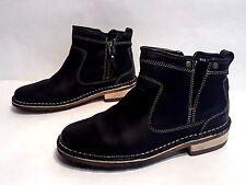 EUC Clarks Originals Women's Black Leather Zip Up Ankle Boots Size 6.5 M EU 37