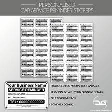 Custom Personalised Car Van Service Reminder Sticker | Mechanics Garage Labels