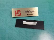Customized Name Badge Tag With Pin 3x1 Full Color Logo