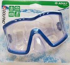 DOLFINO OPTUM Tri-View ADULT Swimming Goggle Mask, Blue Frame, LATEX FREE, NEW