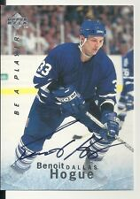 Benoit Hogue Dallas Stars U.D. Be A Player Certified Autograph Hockey Card