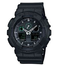 Casio G Shock * GA100MB-1A Anadigi Military Black w/ Green Gshock COD PayPal