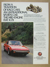 1980 Fiat X1/9 X19 red sportscar color photo vintage print Ad