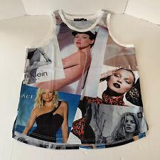 Hudson Outerwear Kate Moss Model All Over Print Tank Top Muscle Shirt Mens 3XL
