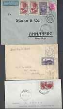 LEBANON 1930's THREE COMMERCIAL COVERS FRANKED EARLY ISSUES TO GENERAL & US