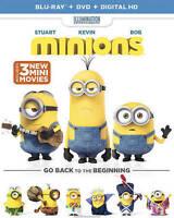 Blu-ray + DVD, MINIONS includes 3 new mini movies